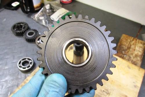 Output Shaft 1st Gear Detail-Face Toward Rear Bearing