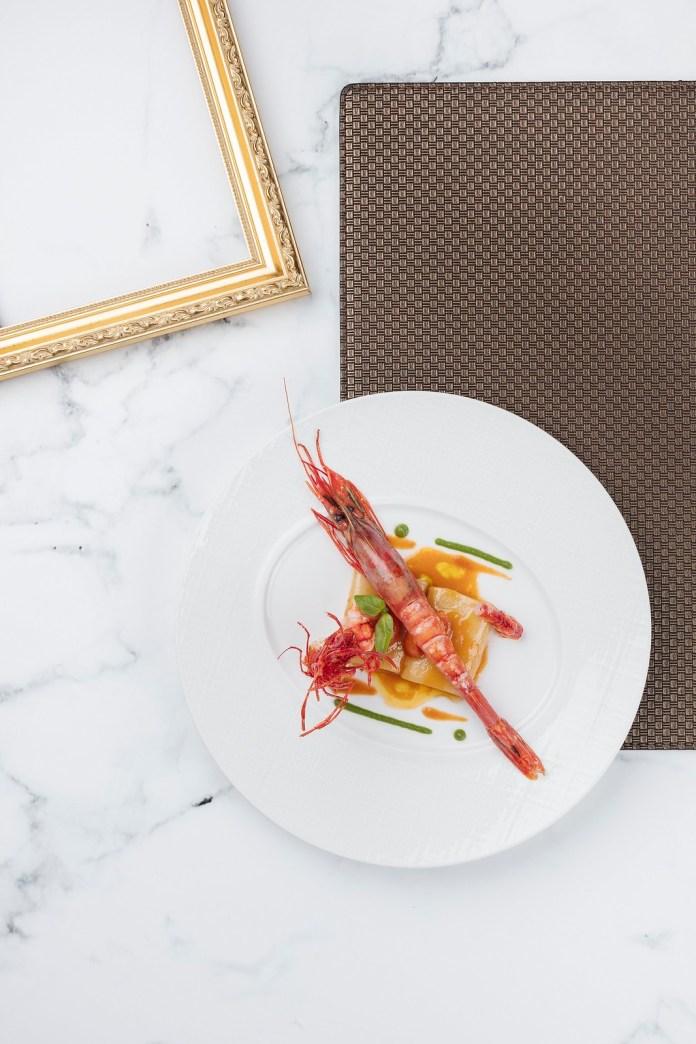 西班牙紅蝦配管形意粉及龍蝦濃湯