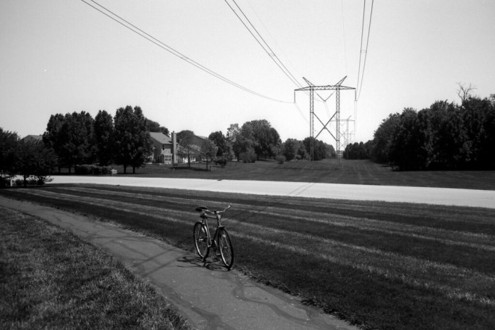 Bike and power lines