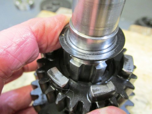 Output Shaft Washer Side with Sharp Edge-Note Small Gap Next To Shaft