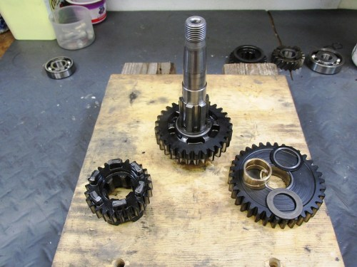 Output Shaft 4th Gear (Left) and 1st Gear (Right) Go On Next