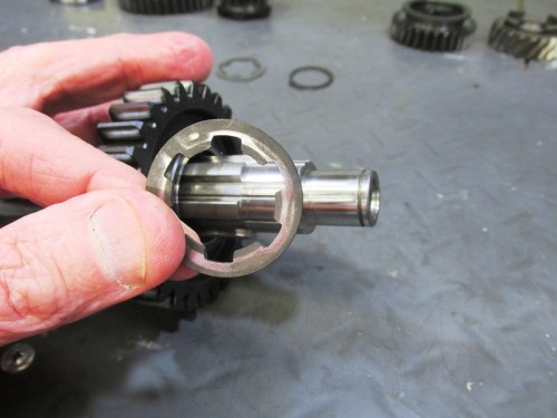 Output Shaft 2nd Gear Slotted Washer