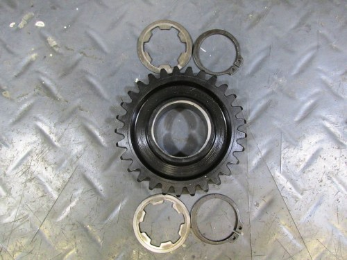 Output Shaft 2nd Gear with Original Slotted Washers and New Lock Rings