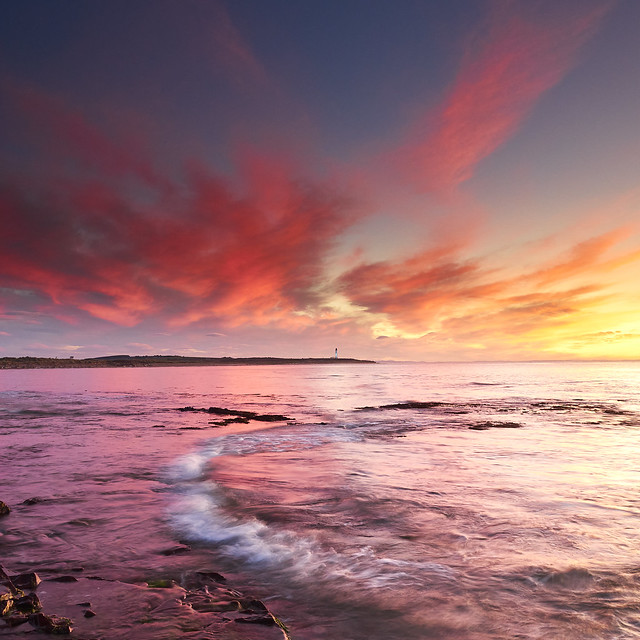 Pink Clouds over Covesea Lighthouse III