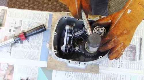 Use Rubber Mallet To Seat Intermediate and Output Shaft Bearings