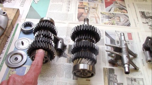 Intermediate Shaft Helical 5th Gear Engages Output Shaft 5th Gear