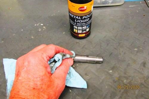Polishing Shift Fork Shaft With Metal Polish