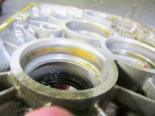 Discoloration In Rear Cover Input Shaft Bearing Bore