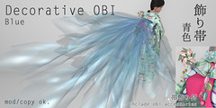 *NAMINOKE*Decorative OBI blue