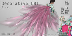 *NAMINOKE*Decorative OBI pink
