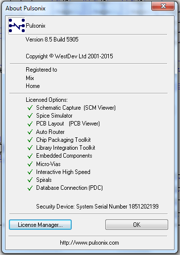 Pulsonix 8.5 Build 5905 full license