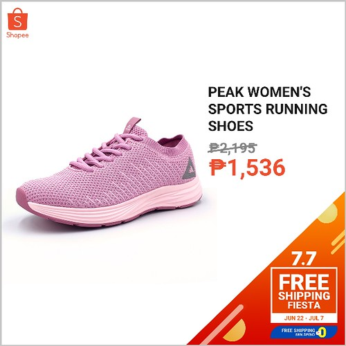 Shopee 7.7 Free Shipping Fiesta  Peak Women's Rubber Shoes