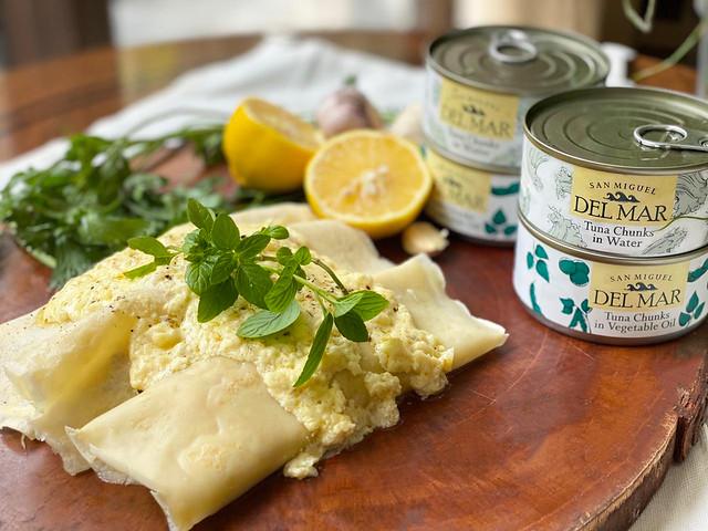 Happy Ongpauco - Tiu's Tuna Crepes with Truffle Mushroom Cream Sauce