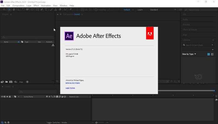 Working with Adobe After Effects 2020 V17.1.0 72 full license