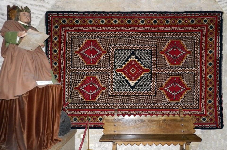Alfonso X el Sabio alfombra Museo Vivo de Al-Andalus Torre de Calahorra Cordoba 04