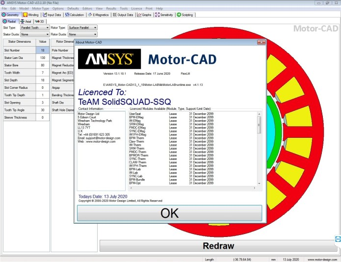 Working with ANSYS Motor-CAD v13.1.10 full license