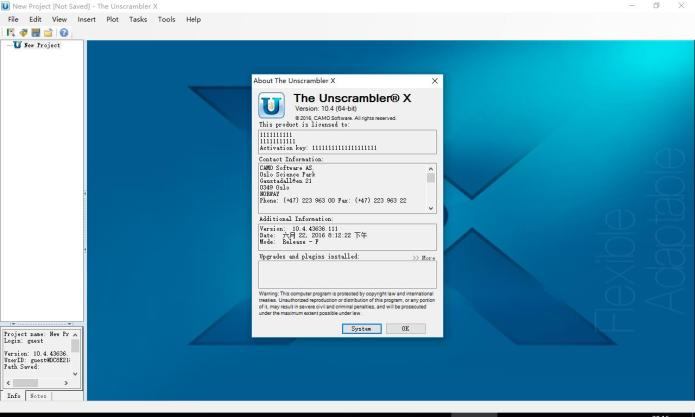 Working with The Unscrambler X 10.4 full license