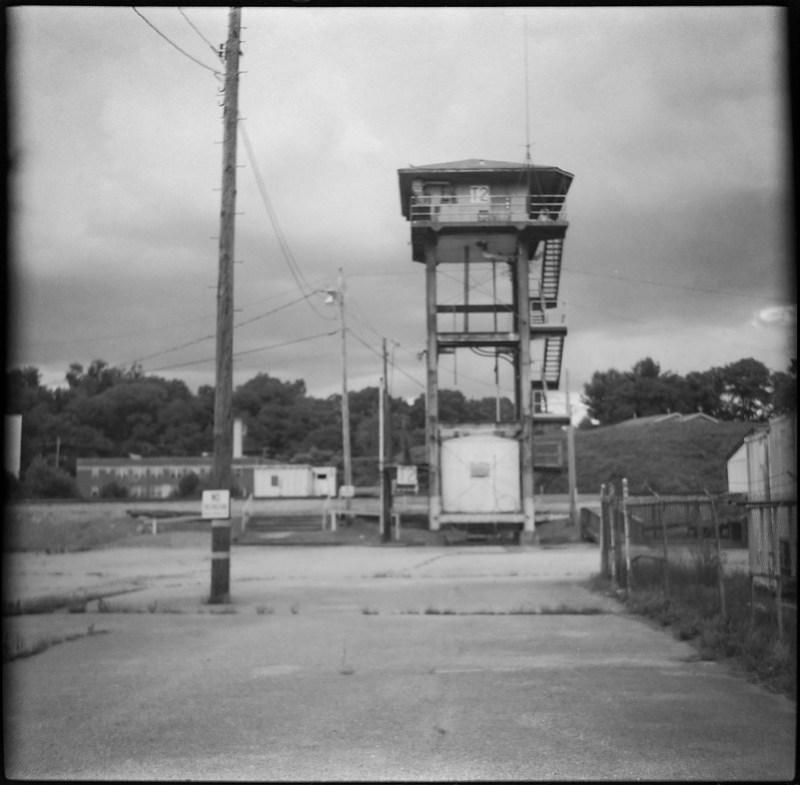 lookout tower, Norfolk Southern Railway, river district, Asheville, NC, Zeiss Ikonta M, Fomapan 200, Moersch Eco film developer, 7.15.20