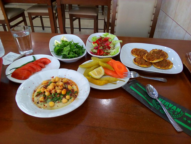 Tarsus' famous humus and fındık lahmacun by bryandkeith on flickr