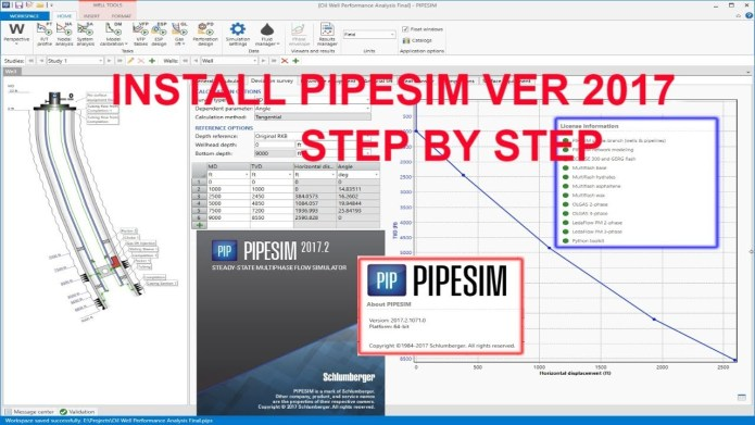 Working with Schlumberger PIPESIM 2017.2.1071 full