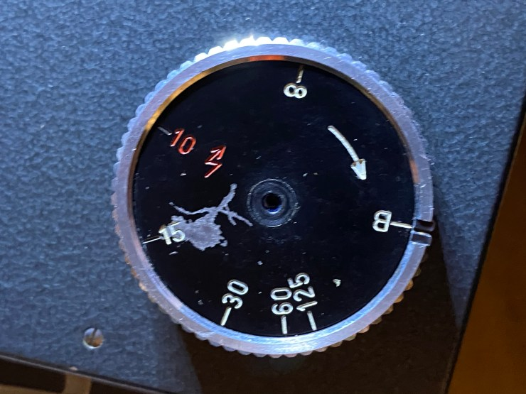 Makiflex Standard (1967) speed selection and shutter cocking dial