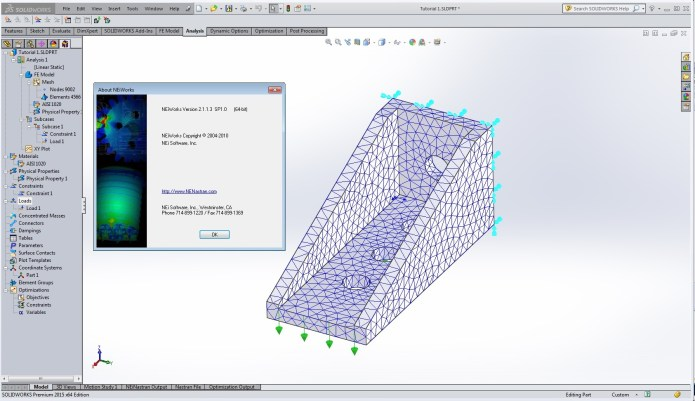 Working with NeiWorks 2.1 SP1.0 for solidworks 2015