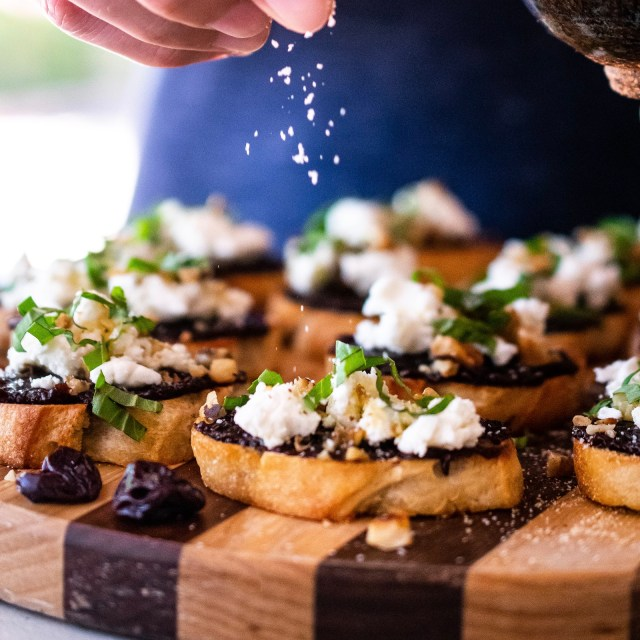 tart cherry bruschetta