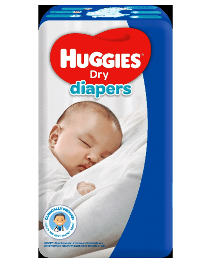 Huggies Dry Diapers Newborn 40 pcs x 2 Packs 80 pcs