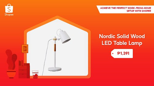 Nordic Solid Wood LED Table Lamp Shopee