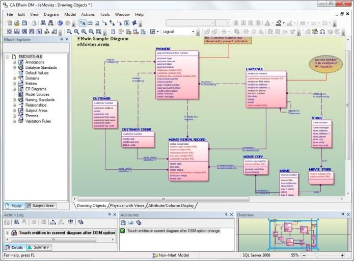 Working with erwin Data Modeler 7.3.8.2235 SP2 full