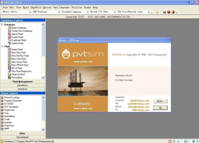 Working with PVTsim 20.0.0 full license