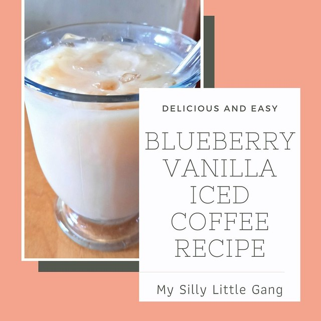 Blueberry Vanilla Iced Coffee Recipe @tworiversco #MySillyLittleGang