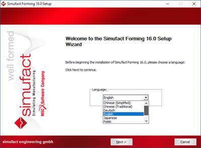 Install MSC Simufact Forming 16.0 x64 multilanguage