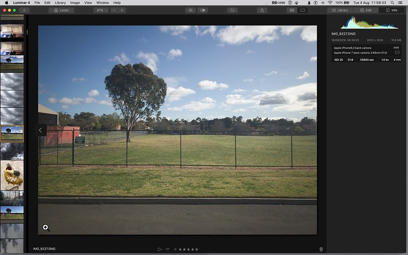 screen grab of Luminar 4