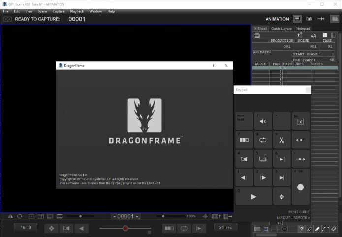 Working with Dragonframe 4.1.8 x64 full license