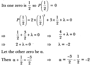 Polynomials Class 10 Extra Questions Maths Chapter 2 with Solutions Answers 19