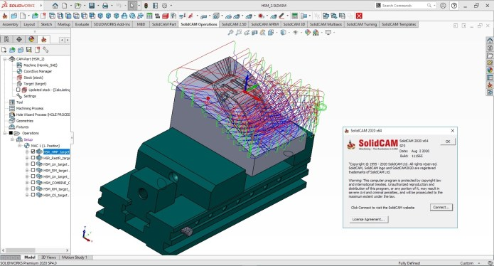 Working with SolidCAM 2020 SP3 for solidworks 2020 full
