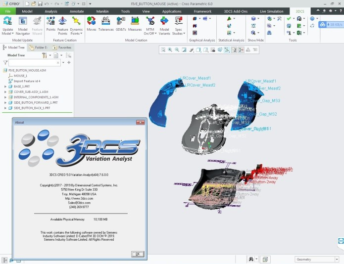 Working with 3DCS Variation Analyst 7.6.0.0 for Creo 3.0-6.0 full