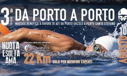 Il 10 agosto si terrà la 3ª edizione di 'Da Porto a Porto', nuotata a favore dell'ATT
