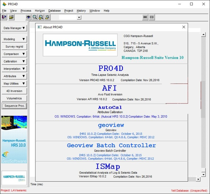 Working with CGG HampsonRussell Suite 10.0.2 full