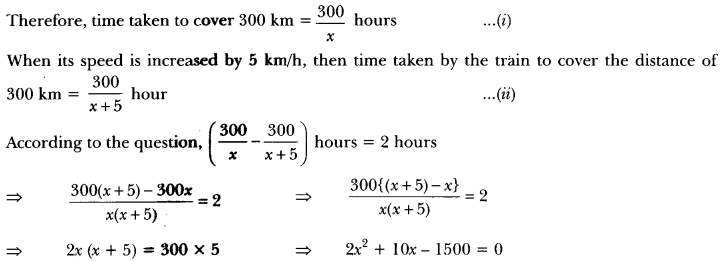 Quadratic Equations Class 10 Extra Questions Maths Chapter 4 with Solutions Answers 43