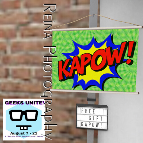 {RP} KAPOW! Canvas Wall Hanging - FREE GIFT @ GEEKS UNITE!