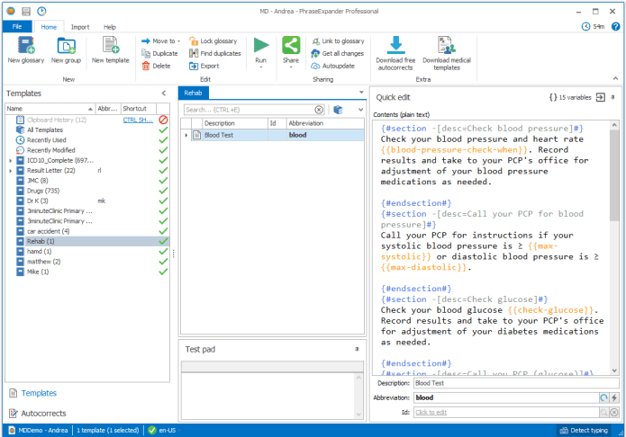 Working with PhraseExpander 5.3.0.0 full license