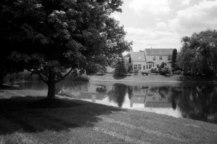 Over the retention pond