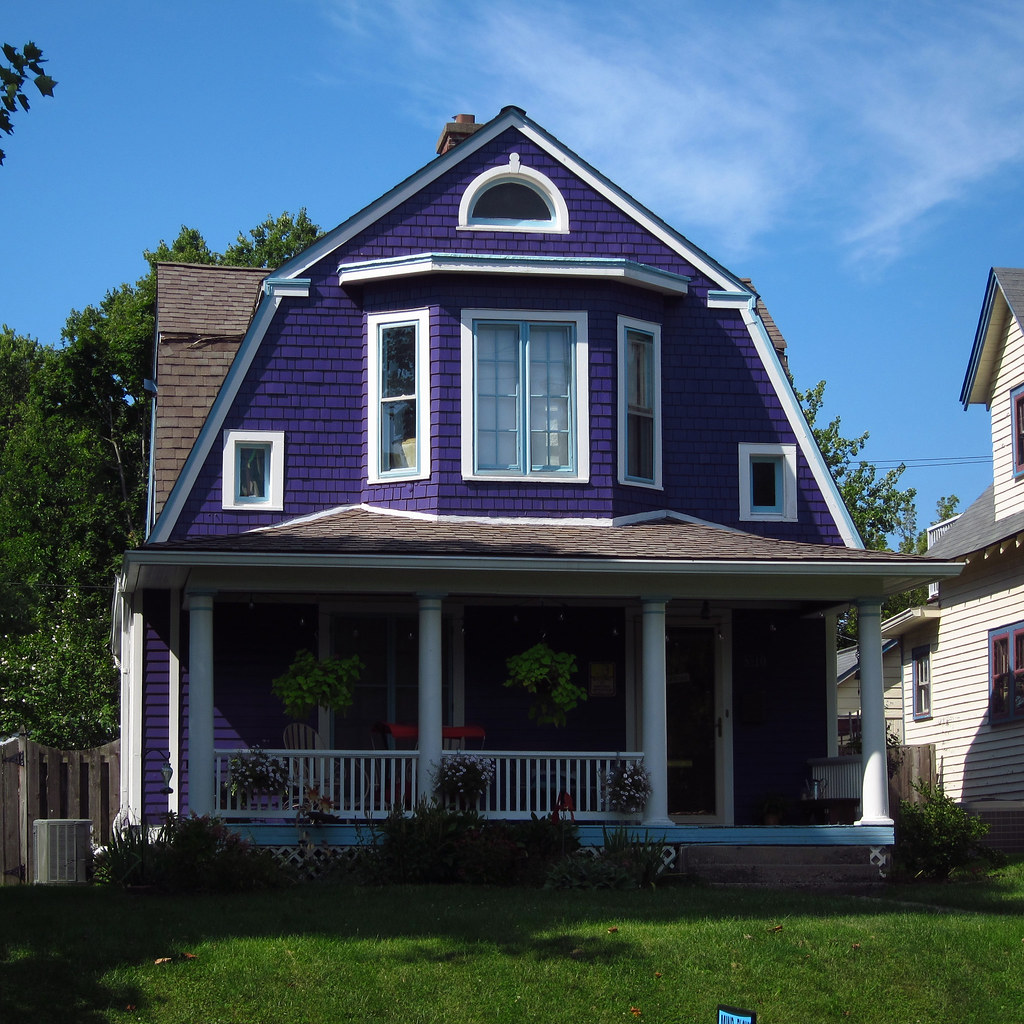 The purplest house ever
