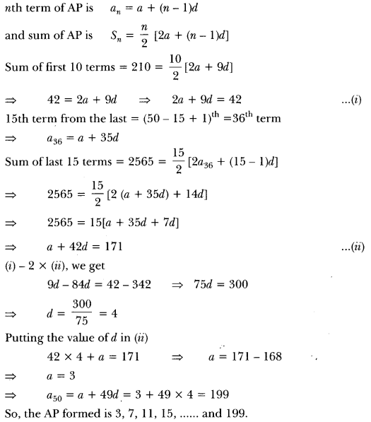Arithmetic Progressions Class 10 Extra Questions Maths Chapter 5 with Solutions Answers 14