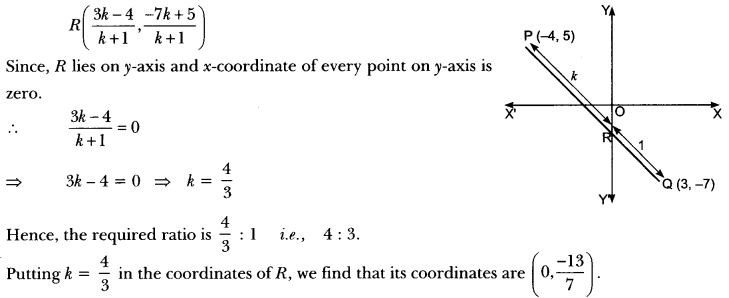 Coordinate Geometry Class 10 Extra Questions Maths Chapter 7 with Solutions Answers 71