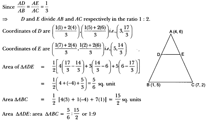 Coordinate Geometry Class 10 Extra Questions Maths Chapter 7 with Solutions Answers 63