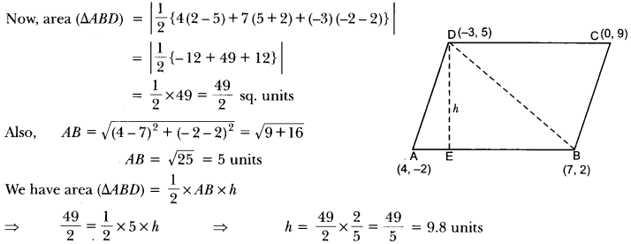Coordinate Geometry Class 10 Extra Questions Maths Chapter 7 with Solutions Answers 39