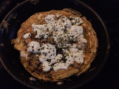 Omelette with Goat's Cheese & Home-grown Mushrooms